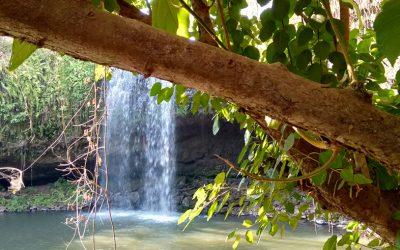 Exploring Katieng Waterfall Ratanakiri